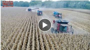 Big Farm Machine Video Clips Working Side by Side