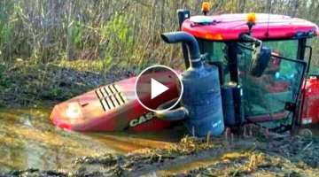 Provisional And The Idiot Behind The Wheel Of The Tractor. The Tractor Is Stuck In The Mud ! CRAS...