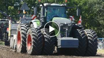 Fendt 1050 Vario Pulling The Heavy Sledge to The Max at Jerslev Pulling Arena | Tractor Pulling D...