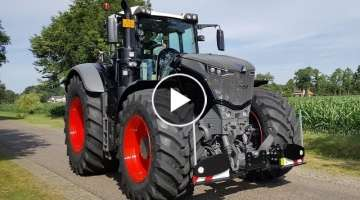 Fendt Vario 1050 Black Beauty on the road with Agribumper Trekkerweb