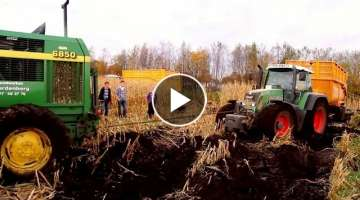 Tractors Stuck İn Mud, Fendt Hard job - Best Complation