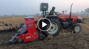 This is the farmer's red horse Swaraj 855 FE tractor 2016 model mileage test with super seeder in...