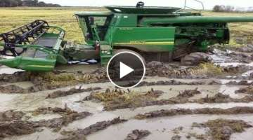 Best Tractors Stuck In Mud Compilation