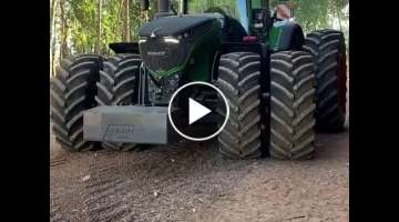 Fendt 1050 Vario│Demonstation of Suspension and Hydraulics