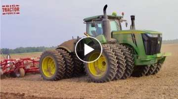 Big TRACTORS Working Spring Tillage