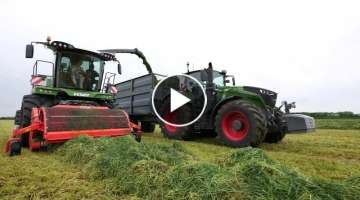 Holdingham Biogas 2018 Grass silage with Fendt Katana 85 and Fendt 1050