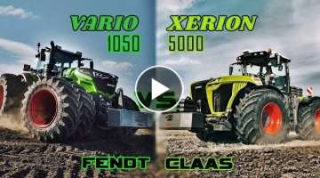 Fendt 1050 Vario VS Claas Xerion 5000 - Ultimate size/power comparison